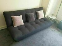 HABITAT Kota 3 Seater Sofa Bed Fabric (Click Clack) Charcoal GOOD CONDITION AND VERY SOLID ONLY SOFA