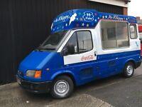 Ford Transit Soft Ice Cream Van Carpigiani Icecream Machine - Spares or Repairs / Winter Project
