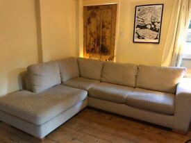 John Lewis cream corner sofa