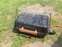 Outback compact portable gas barbecue Barbie bbQ lava rock