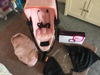Quinny zap xtra2 limited addition Miami pink and extras
