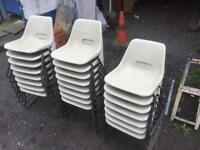 Adults plastic stacking chairs
