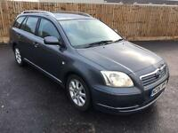 H TOYOTA AVENSIS ESTATE 2.2 D4D DIESEL 6 SPEED LOW MILES FULL HISTORY MINT CAR NOT VERSO COROLLA