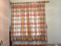 """Lined Curtains 75"""" wide 54 """"drop pencil pleat header tape"""