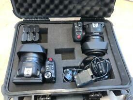 Canon XC10 video camera x2 plus accessories and case