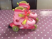 Pink 3 Wheel Rollerblades size 8.5 - 10