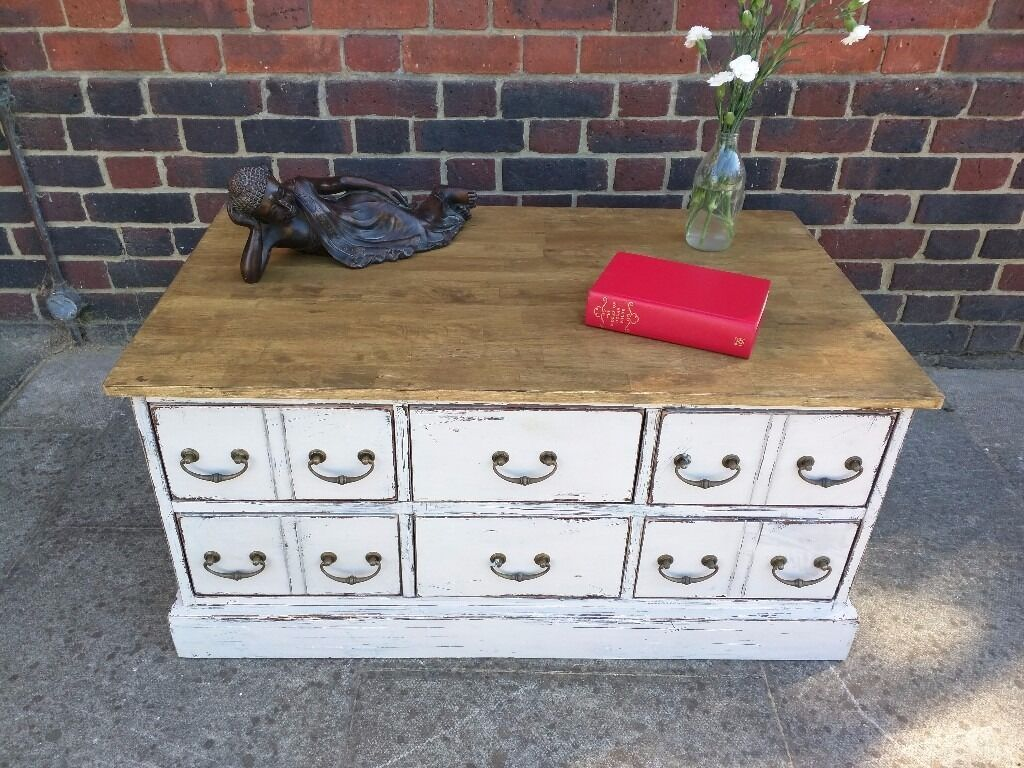 100 shabby chic coffee table with drawers rubric cube walnu