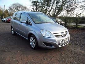 2008 VAUXHALL ZAFIRA 1.6 'BREEZE' 7 SEATER- 83K 7'SERVICE STAMPS