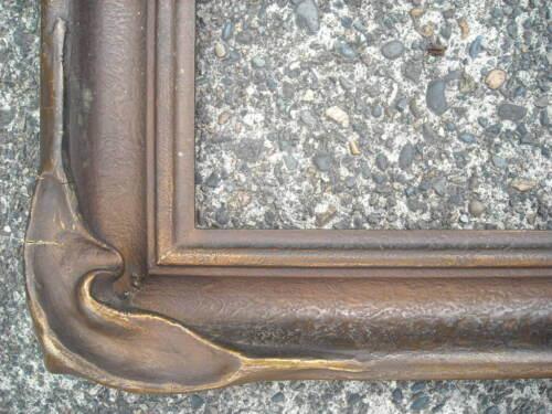 "damaged antique LARGE c1920 PIE CRUST ARTS & CRAFTS PICTURE FRAME 20"" x 30"""