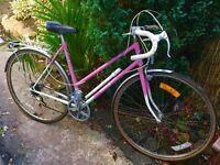 Classic Dawes Debutante ladies racing bike 5 speed 20 inch frame 27 inch wheels