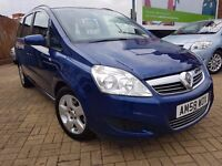 Vauxhall ZAFIRA EXCLUSIV, IDEAL FAMILY CAR, 7 SEATER, 2008, LOW MILLAGE 51900