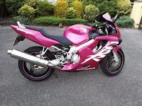 Pink custom Honda CBR 600f