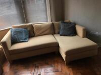 Nash Interiors Yellow Corner Sofa