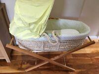 Mothercare snoozie Safari Moses basket