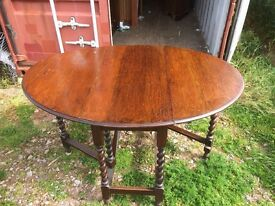 Barley Twist Oak Gate Leg Table