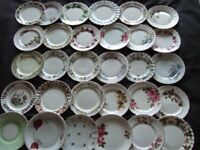 30 x Vintage Assorted Mismatched Bone China Tea Side Plates Wedding Tea Rooms Party