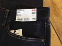 Brand new Uniqlo Men's Jeans. Dark blue size 35inch waist. 34inch leg.