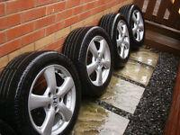 "Honda Civic 16"" Alloy wheels tyres Accord 5x114 CRZ type sport s inch r EP2 FN2 integra FRV crv si"