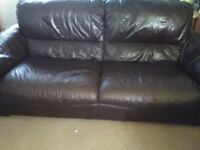 Leather Sofa brown 3 seater
