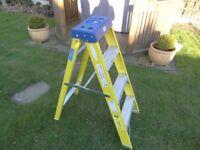 Titan fiberglass step ladder