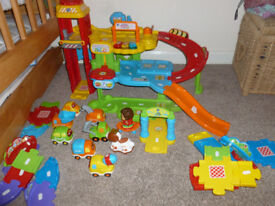 Vtech Toot-toot Garage with extra cars and track