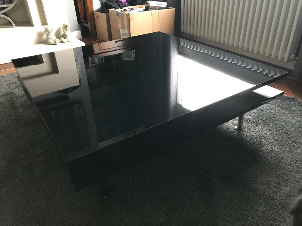 Ikea Tofteryd Gloss Black Coffee Table In East Kilbride Glasgow  # Tofteryd Meuble Tv