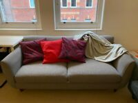 John Lewis two seater grey sofa