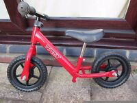 Toddler's balance bike, barely used. £15.