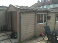 Free single concrete garage( roof will be removed) needs to be dismantled and removed.