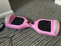 Segway hoverboard pink diamanté bling 2 months old