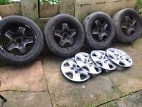 """Vauxhall insignia 17"""" wheels with good tyres and all trims"""