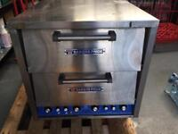 Bakers Pride twin deck electric pizza oven