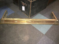 Very Nice Arts & Crafts Decorative Solid Brass Fire Fender Hearth Surround