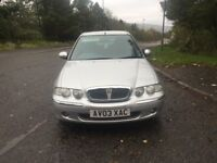 Rover 45ixs 1.8cc 115bhp 5 door h/back 03/2003 1 former keeper 97k service history 12 stamps in book