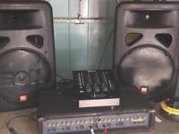 Pa speaker system disco or karaoke