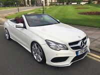 10 REG MERCEDES E350 CDI AUTO CONVERTIBLE AMG SPORT FULL 2013 FACELIFT £7000 CONVERSION RED LEATHER