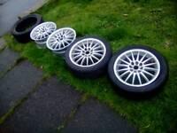 "Alloy wheels 15"" 4 stud multi fit"