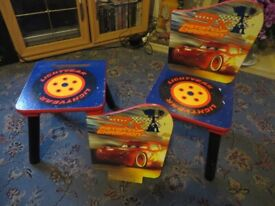 """Childs seats/stools with """"Cars"""" pictures"""