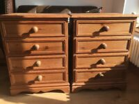 Solid pine chest of drawers x 2