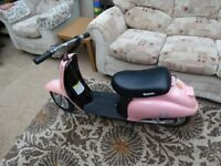 PINK RAZOR POCKET MOD SCOOTER WORKING NEEDS NEW BATTERY HENCE PRICE