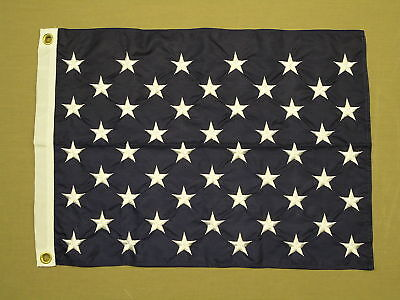 """U.S. Union Jack Indoor Outdoor Embroidered Star Nylon Flag Grommets 20"""" X 26"""""""