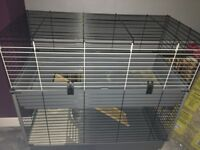 Large rabbit cage two tier