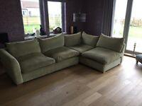 Large L shaped sofa.