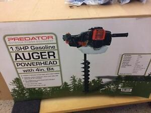 HOC - ONE MAN GAS AUGER WITH 4 OR 6 INCH BIT   + FREE SHIPPING + 30 DAY WARRANTY