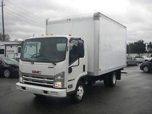 2008 GMC W35042 LCF 14 Foot Cube Van V8 Gas