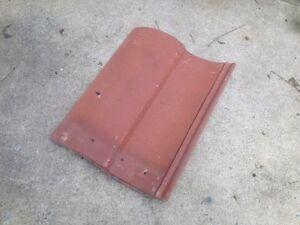 Pair Of Two 2 Monier Concrete Roof Tiles Terra Cotta Color