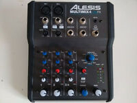 Alesis Multimix 4 USB FX - 4 Channel USB Mixer with built-in effects