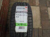 Spare wheel tyre and rim unused