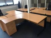 PROFESSIONAL OFFICE SET-DESK,DRAWRS ,CHAIRS, DIVIDERS- SAME DAY DELIVERY-DURABLE SCRATCH RESISTANT