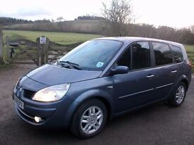 2008 renault grand scenic 7 seater 1.9 dci low mailage mpv family seven seats diesel 12 months mot